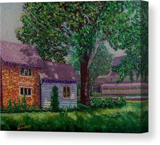 Landscape Canvas Print featuring the painting Schwabs Fudge by Stan Hamilton