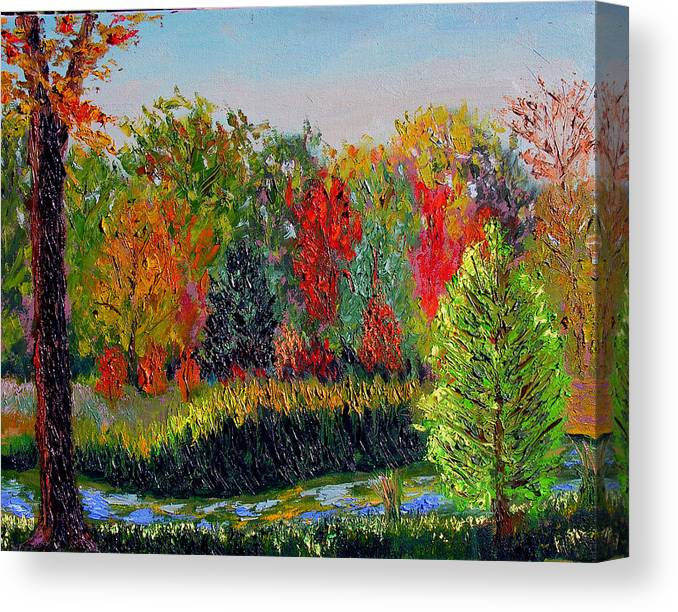 Landscape Canvas Print featuring the painting Sewp 10 10 by Stan Hamilton