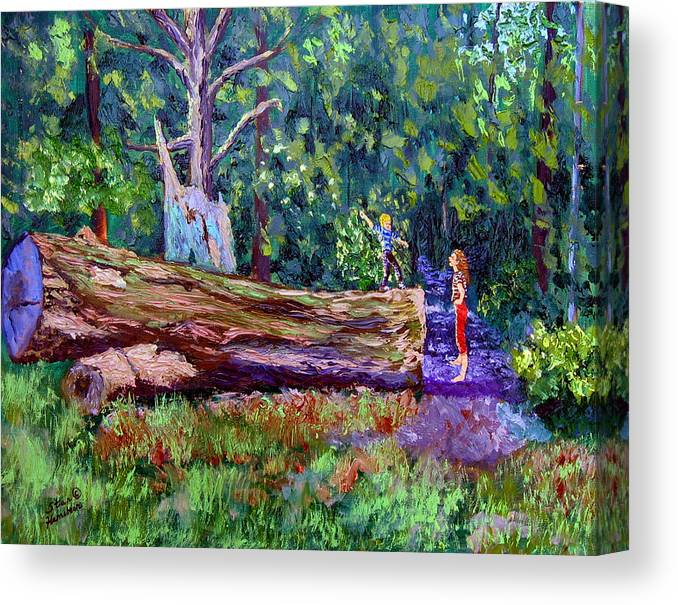 Landscape Canvas Print featuring the painting Sewp 6 21 by Stan Hamilton