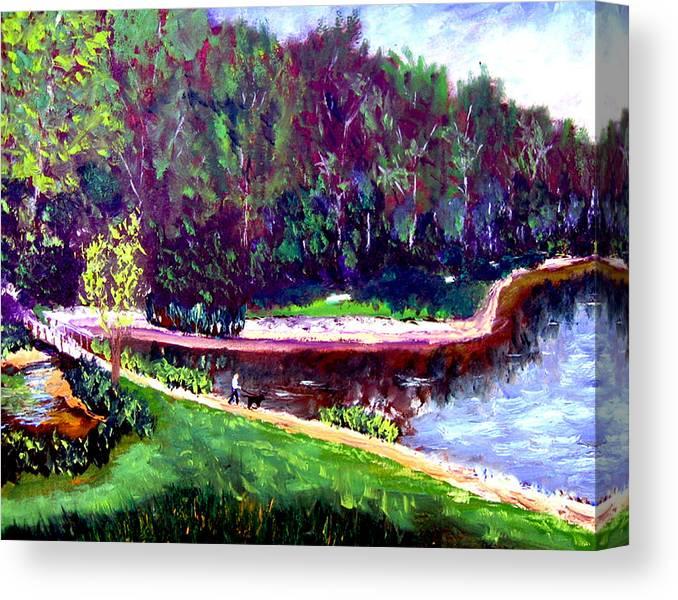 Plein Air Canvas Print featuring the painting Ecp 6 20 by Stan Hamilton