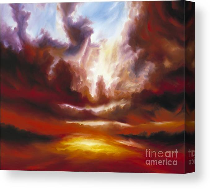 Tempest Canvas Print featuring the painting A Cosmic Storm - Genesis V by James Christopher Hill