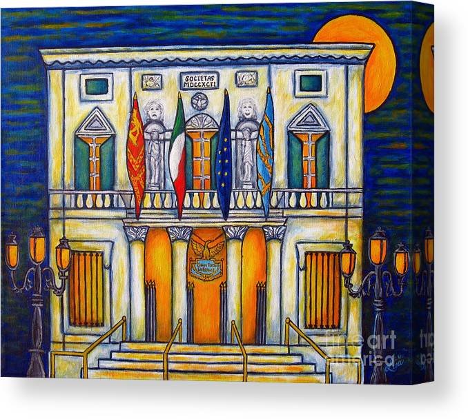 Theatre Canvas Print featuring the painting A Night at the Fenice by Lisa Lorenz