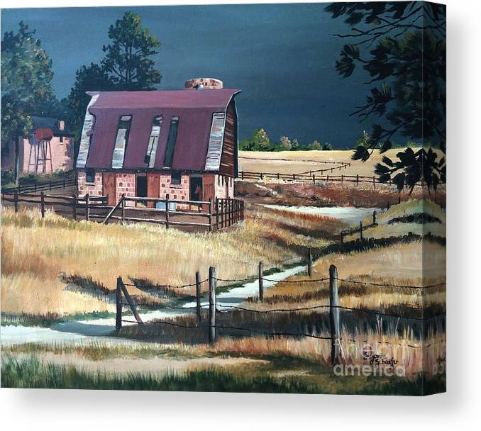 Scene Canvas Print featuring the painting After the storm by Suzanne Schaefer
