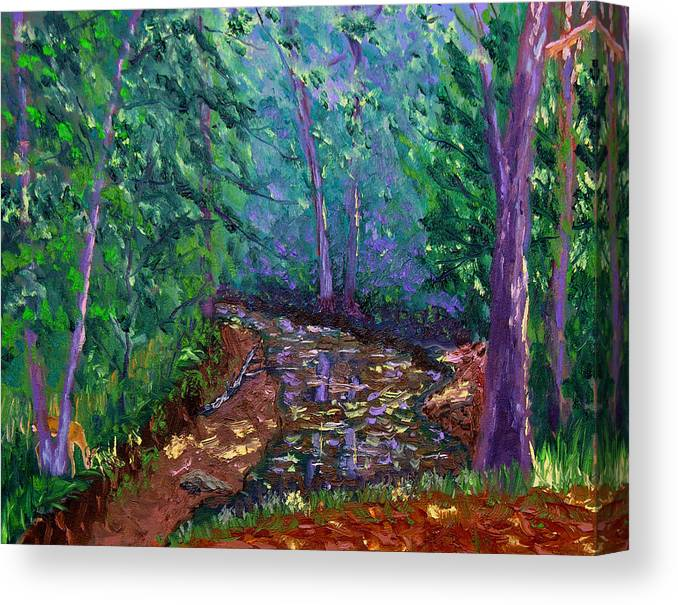 Original Oil On Canvas Canvas Print featuring the painting Bcsp 9-20 by Stan Hamilton