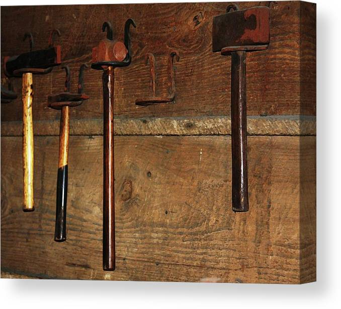 Blacksmith Photographs Canvas Print featuring the photograph Blacksmith Tools by Kim Henderson