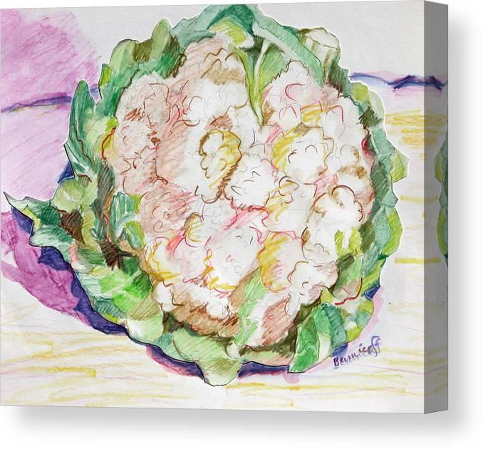Cauliflower Canvas Print featuring the painting Califlower by Jan Bennicoff