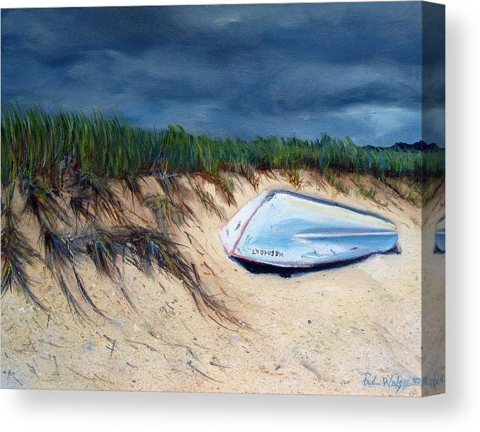 Boat Canvas Print featuring the painting Cape Cod Boat by Paul Walsh