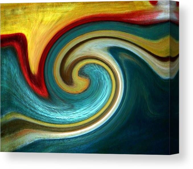 Abstract Canvas Print featuring the digital art Catch the wave by Joseph Ferguson