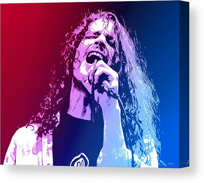 Tribute Canvas Print featuring the mixed media Chris Cornell 326 by Greg Joens