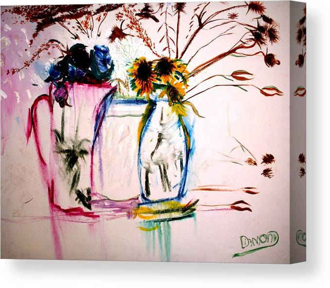 Prints Canvas Print featuring the painting Clear by Jack Diamond