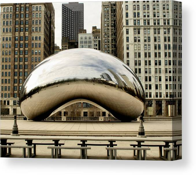 Chicago Canvas Print featuring the photograph Cloud Gate - 3 by Ely Arsha