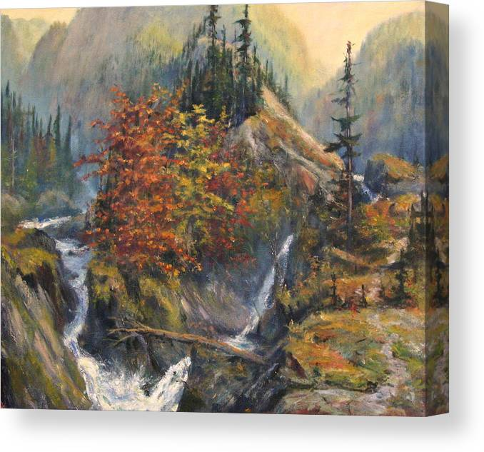 Landscape Canvas Print featuring the painting Convergence by Craig shanti Mackinnon