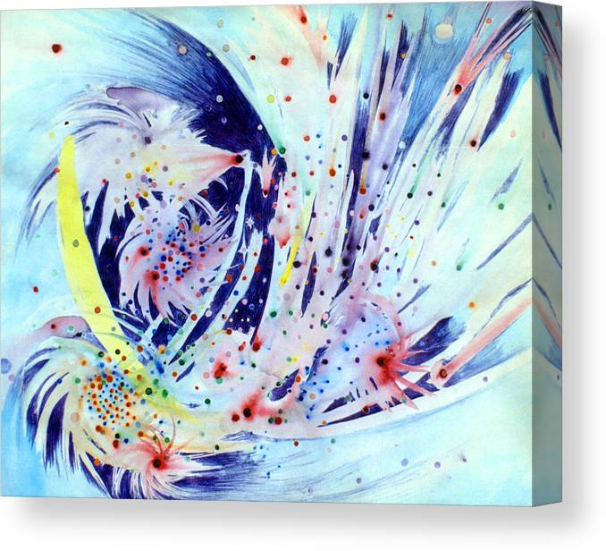 Abstract Canvas Print featuring the painting Cosmic Candy by Steve Karol