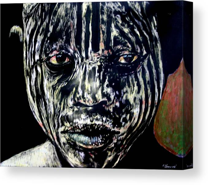Canvas Print featuring the mixed media Cusp of Enlightenment by Chester Elmore