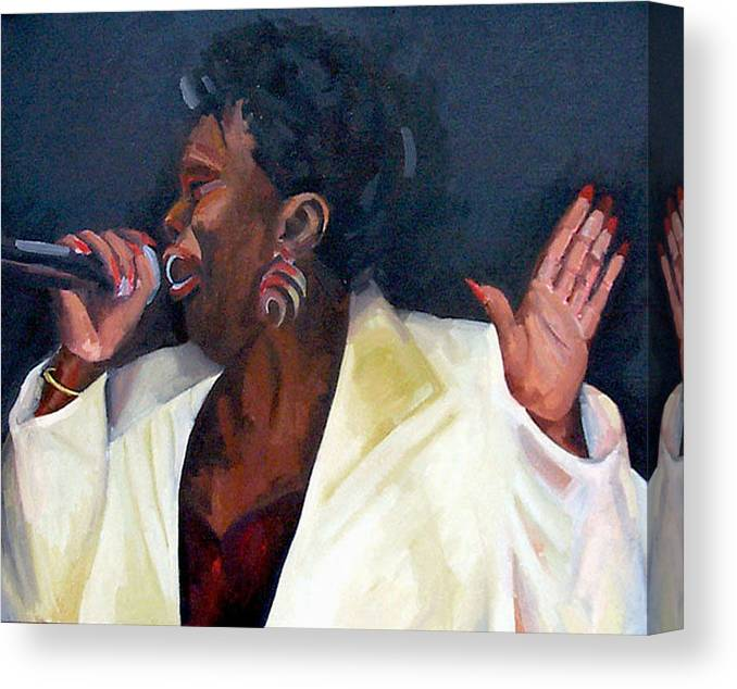 Portrait Canvas Print featuring the painting Don't Boss Me Baby by Jackie Merritt