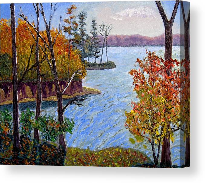 Original Oil On Canvas Canvas Print featuring the painting Ecp 10-26 by Stan Hamilton