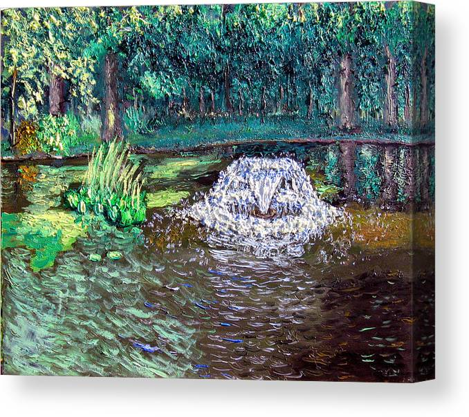 Original Oil On Canvas Canvas Print featuring the painting Ecp 7-12 by Stan Hamilton