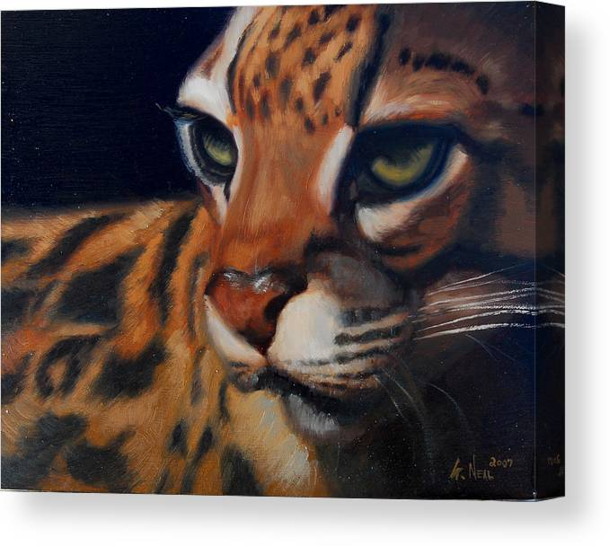 Painting Canvas Print featuring the painting Eyes Wide Open by Greg Neal
