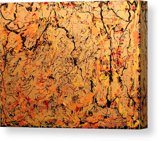 Color And Creative Movement Canvas Print featuring the painting Ferramenta by Biagio Civale