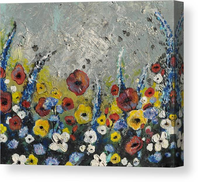 Wood Canvas Print featuring the painting Field In by Amanda Sanford