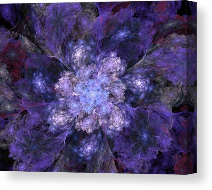 Digital Painting Canvas Print featuring the digital art Floral Fantasy 1 by David Lane