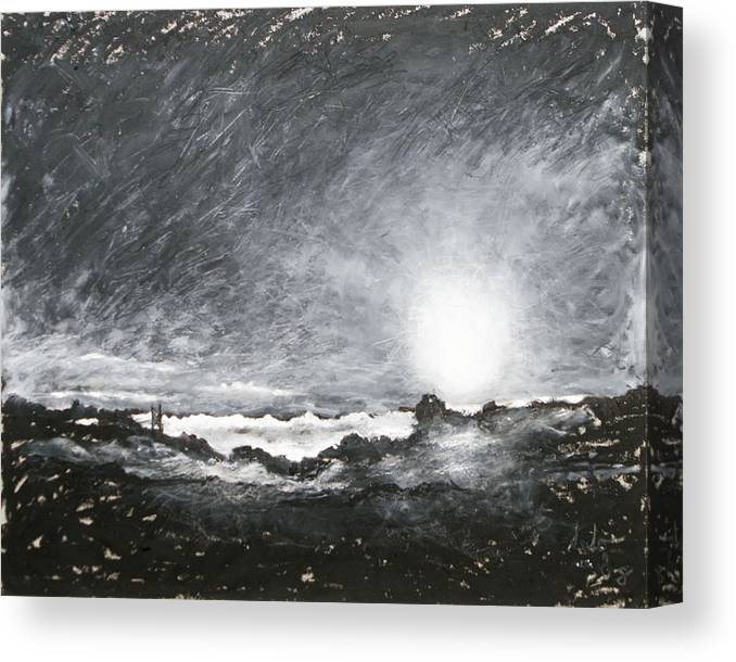 Landscape Canvas Print featuring the painting Fog Over Blaine Hill Early Morning by Robert Sako