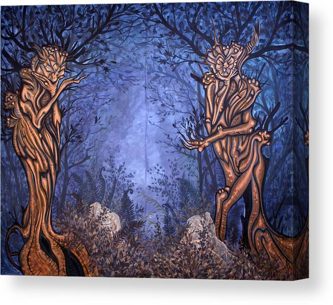 Mystic Canvas Print featuring the painting Forest by Judy Henninger