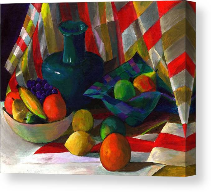 Still Canvas Print featuring the painting Fruit Still Life by Peter Shor
