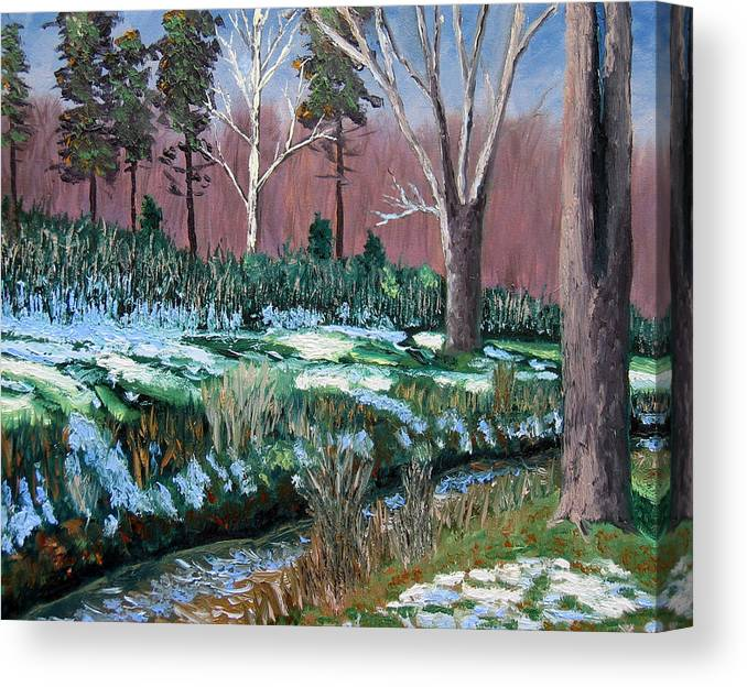 Original Oil On Canvas Canvas Print featuring the painting Gp 12-21 by Stan Hamilton