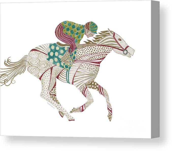 Horse Canvas Print featuring the painting Horse Racer by Amy Kirkpatrick