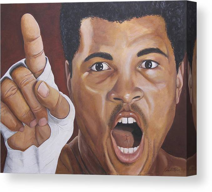 The Greatest Canvas Print featuring the painting I Am the Greatest 2 by Kenneth Kelsoe