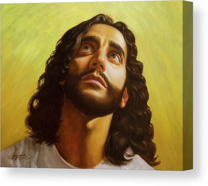 Male Figurative Canvas Print featuring the painting Illumination by Gary Hernandez
