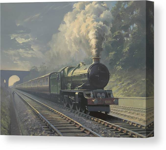 Steam Canvas Print featuring the painting King Edward VI by Richard Picton