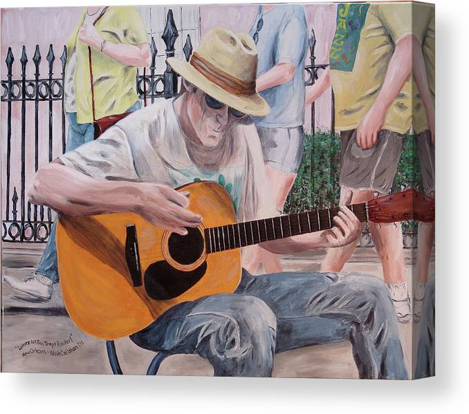 Kevin Callahan Canvas Print featuring the painting Let the Good Times Roll-New Orleans Blues by Kevin Callahan