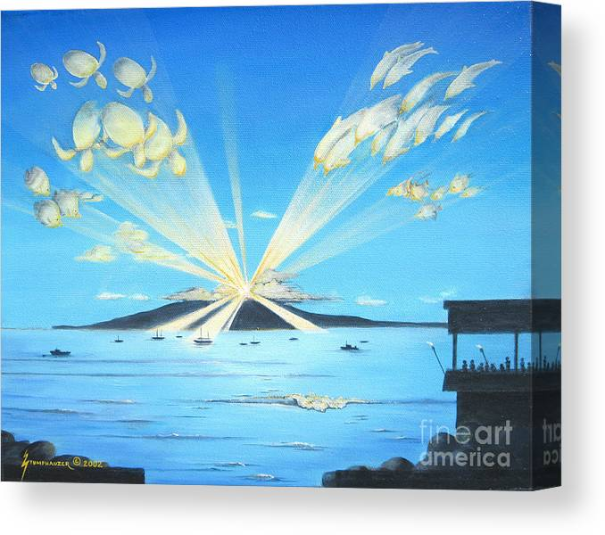 Maui Canvas Print featuring the painting Maui Magic by Jerome Stumphauzer