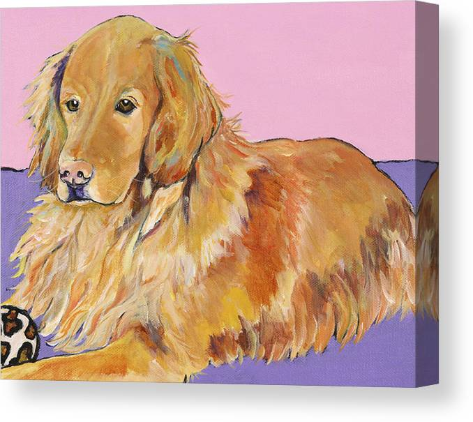 Golden Retriever Canvas Print featuring the painting Maya by Pat Saunders-White