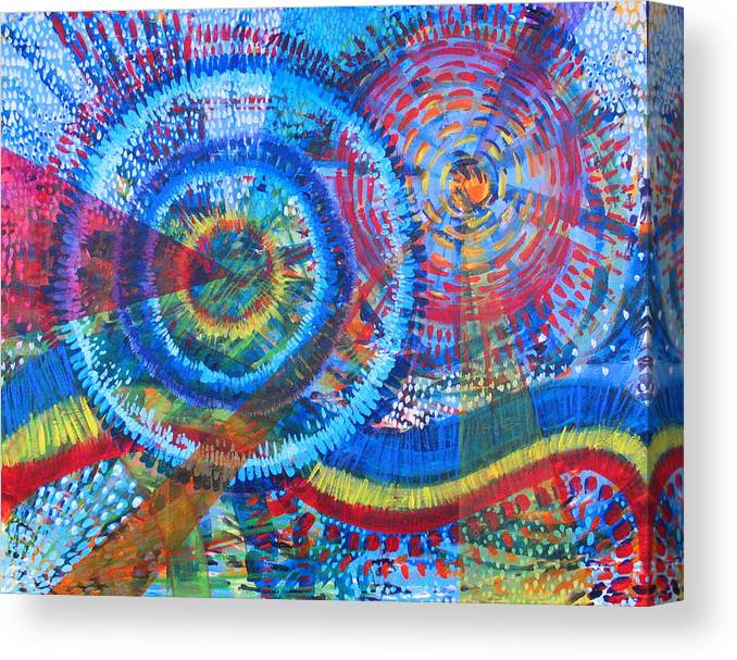 Dots Canvas Print featuring the painting Microcosm V by Rollin Kocsis