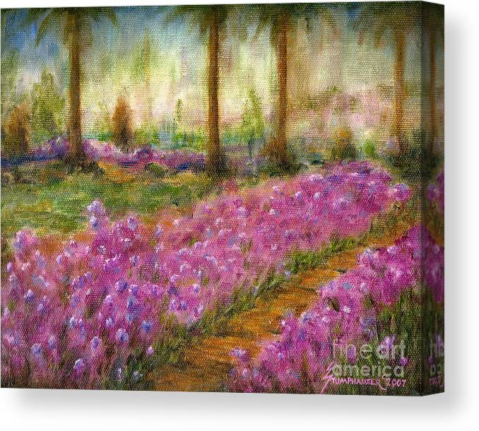 Monet Canvas Print featuring the painting Monet's Garden in Cannes by Jerome Stumphauzer