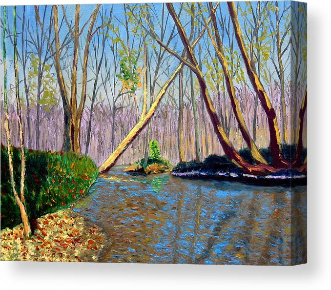 Landscape Canvas Print featuring the painting Mooresville 11 2 by Stan Hamilton
