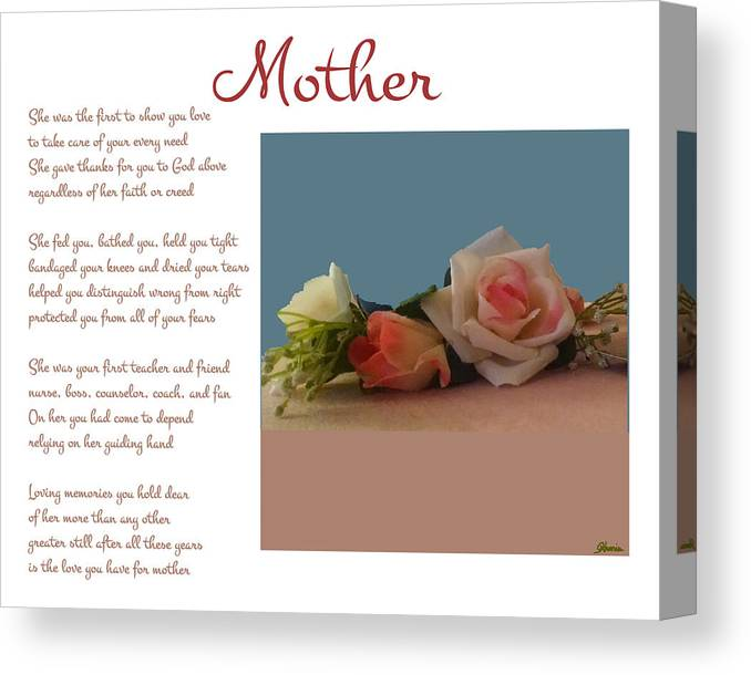 Mother Canvas Print featuring the digital art Mother by Pharris Art