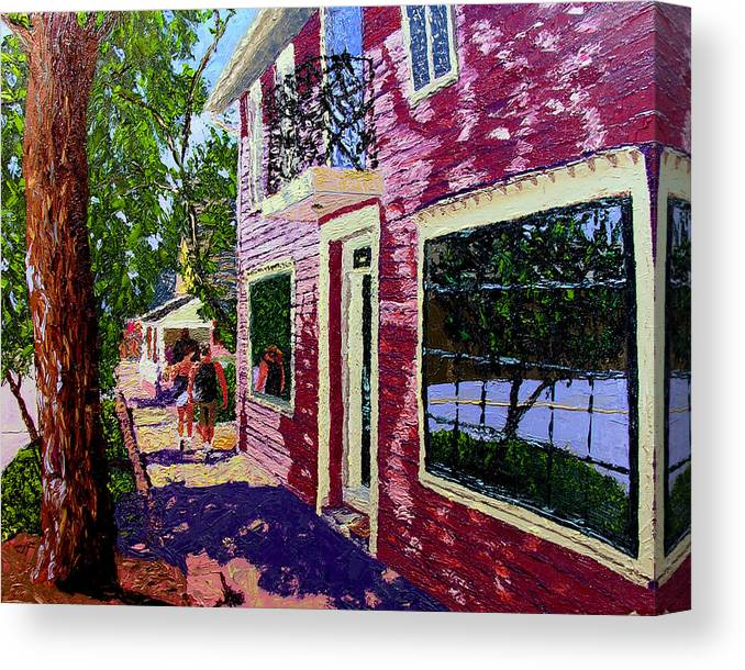 Pallet Knife Canvas Print featuring the painting Nashville Upside Down by Stan Hamilton