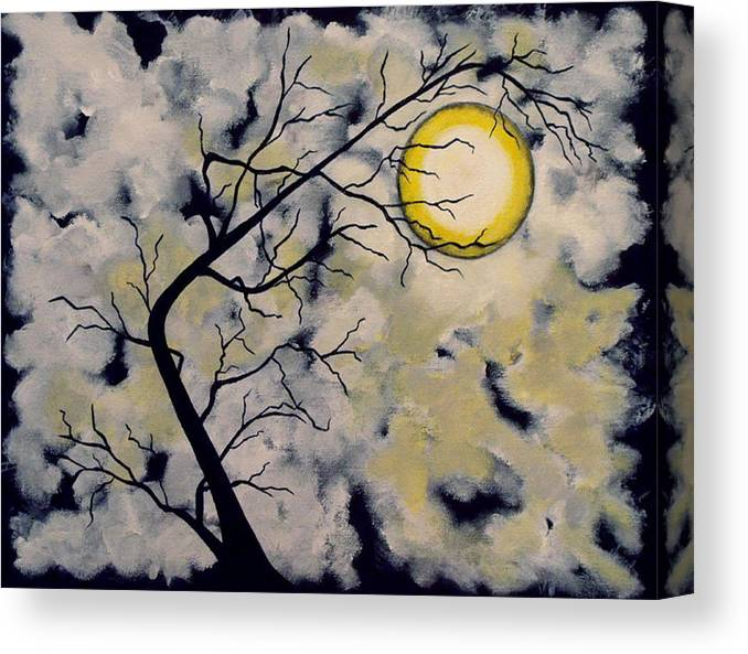 Abstract Canvas Print featuring the painting October Night 5 Sixth in October Night Series by Linda Powell