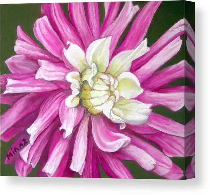Floral Canvas Print featuring the painting Pink Petal Blast by Minaz Jantz