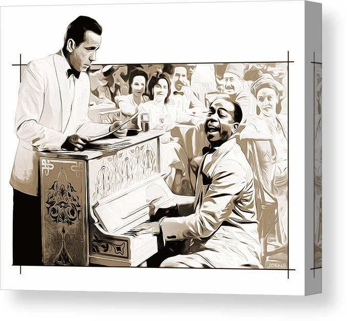 Casablanca Canvas Print featuring the digital art Play it Sam by Greg Joens