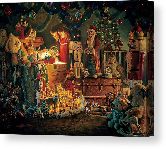Santa Claus Canvas Print featuring the painting Reason for the Season by Greg Olsen