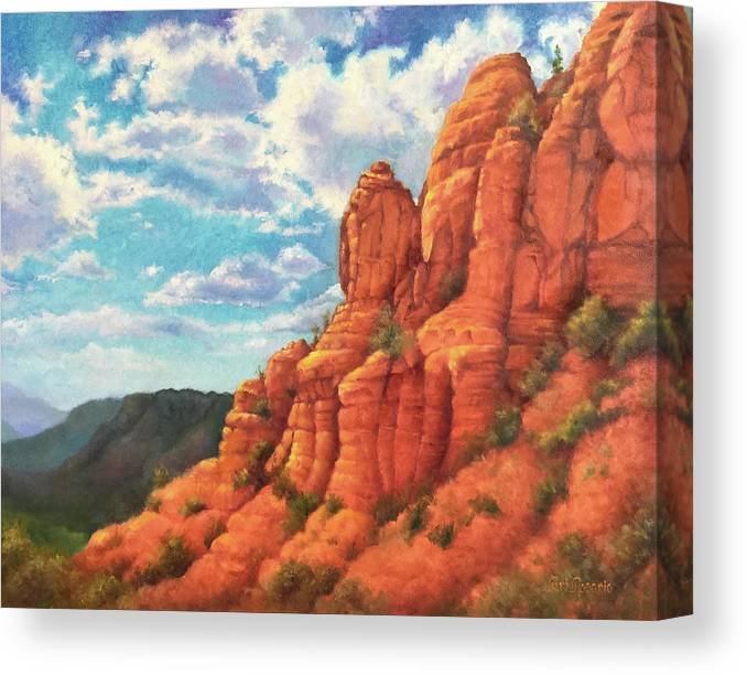 Sedona Canvas Print featuring the painting Red Rocks by Teri Rosario