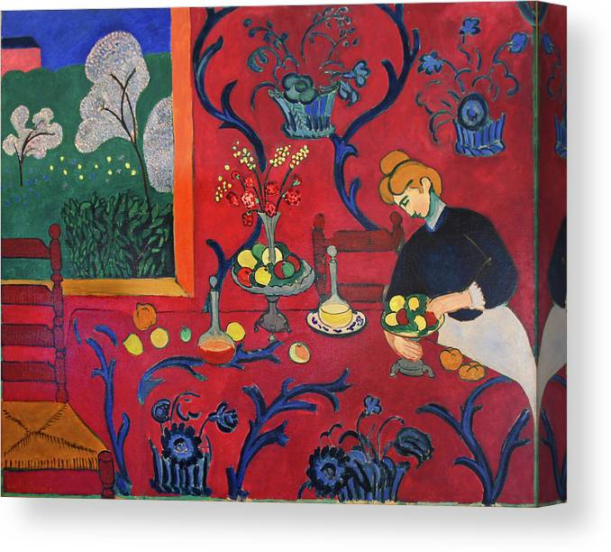 Henri Matisse Canvas Print featuring the painting Red Room by Henri Matisse