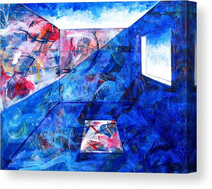Room Canvas Print featuring the painting Room With A View by Rollin Kocsis