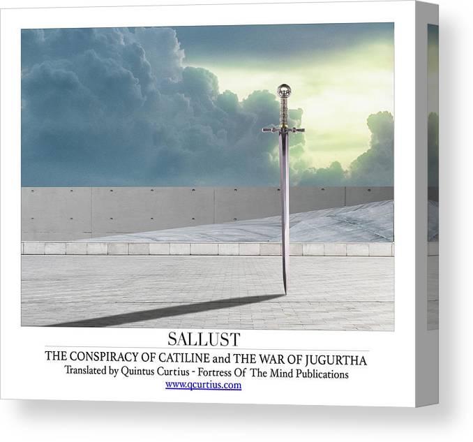 Sallust Canvas Print featuring the digital art Sallust by Quintus Curtius