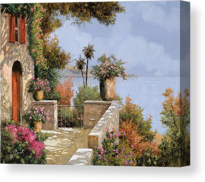 Seascape Canvas Print featuring the painting Silenzio by Guido Borelli